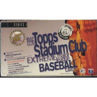 1996 Topps Stadium Club Series 1 Baseball Jumbo Box