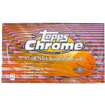 1997/98 Topps Chrome Basketball Hobby Box