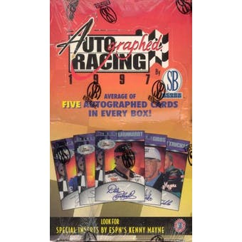 1997 Scoreboard Autographed Racing Box