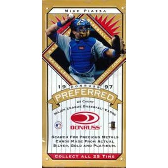 1997 Donruss Preferred Baseball Hobby Box (Gold Tin)