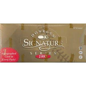 1997 Donruss Signature Series B (Red) Baseball Hobby Box
