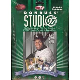 1997 Donruss Studio Baseball Box