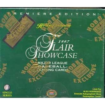 1997 Flair Showcase Baseball Hobby Box