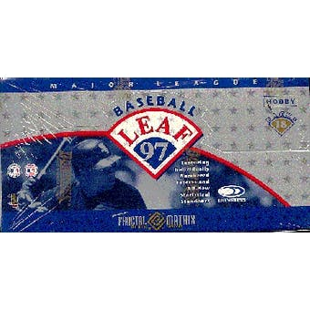1997 Leaf Baseball Hobby Box