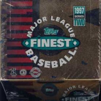 1997 Topps Finest Series 2 Baseball Jumbo Box