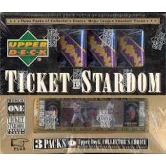 1997 Upper Deck Collector's Choice Ticket To Stardom Baseball Hobby Box