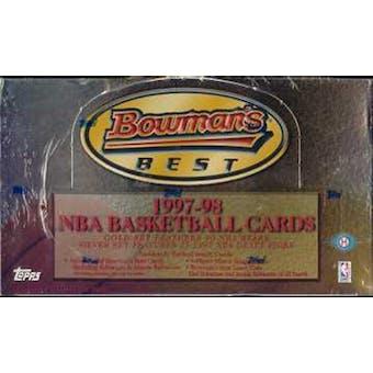 1997/98 Bowman's Best Basketball Hobby Box