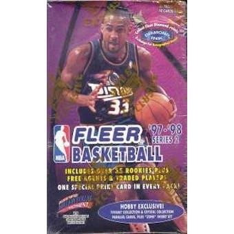 1997/98 Fleer Series 2 Basketball Hobby Box
