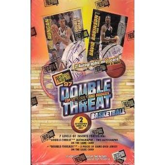 1997/98 Press Pass Double Threat Basketball Hobby Box