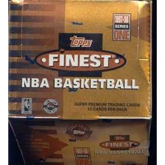 1997/98 Topps Finest Series 1 Basketball Jumbo Box
