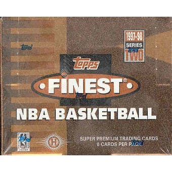 1997/98 Topps Finest Series 2 Basketball Hobby Box