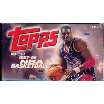 1997/98 Topps Series 1 Basketball Jumbo Box