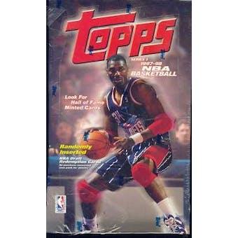 1997/98 Topps Series 1 Basketball Hobby Box