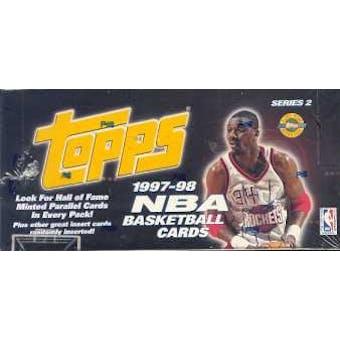 1997/98 Topps Series 2 Basketball Jumbo Box