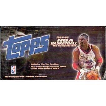1997/98 Topps Basketball Factory Set (box)