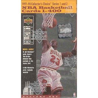 1997/98 Upper Deck Collector's Choice Basketball Factory Set (box)