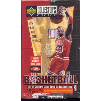 1997/98 Upper Deck Collector's Choice Series 1 Basketball Hobby Box