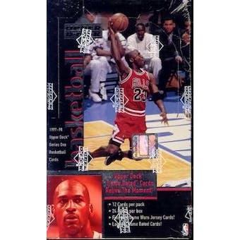 1997/98 Upper Deck Series 1 Basketball Hobby Box