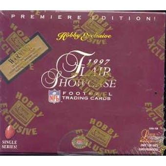1997 Flair Showcase Football Hobby Box