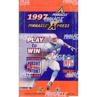 1997 Pinnacle X-Press Football Hobby Box