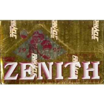 1997 Pinnacle Zenith Football Hobby Box