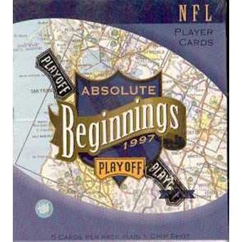1997 Playoff Absolute Beginnings Football Hobby Box