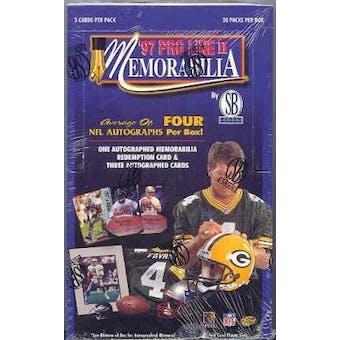 1997 Pro Line Memorabilia Football Hobby Box