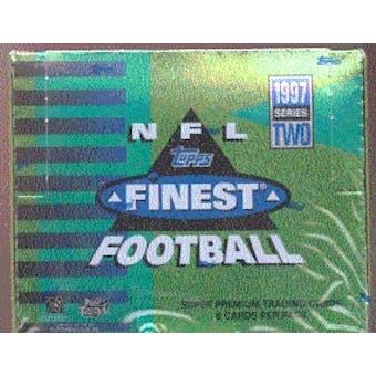 1997 Topps Finest Series 2 Football Hobby Box