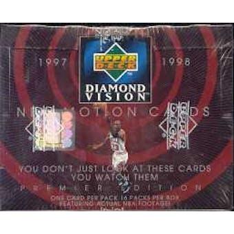 1997/98 Upper Deck Diamond Vision Basketball Hobby Box