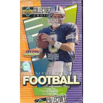 1997 Upper Deck Collector's Choice Series 2 Football Hobby Box