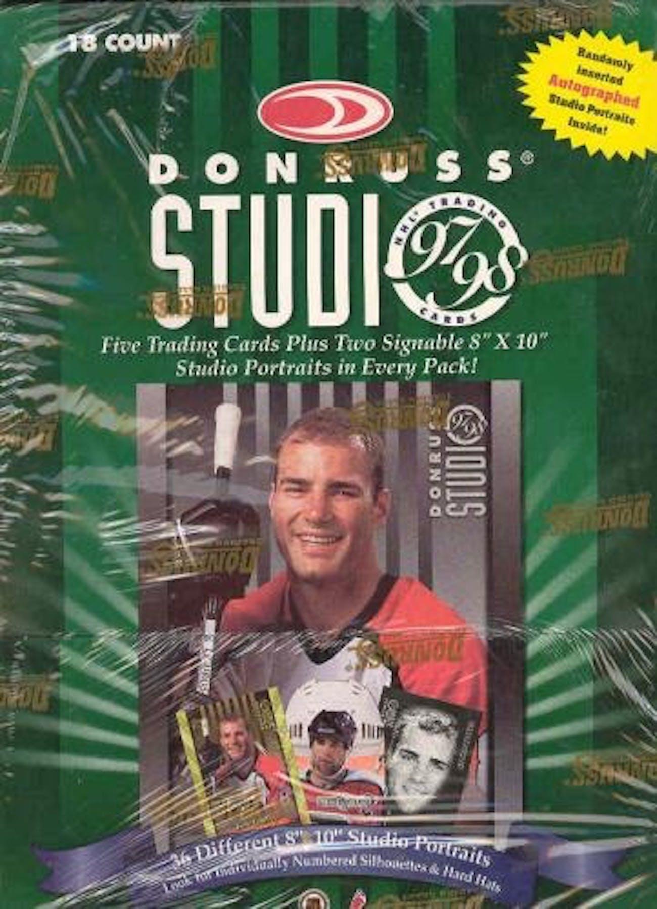 199798 Donruss Studio Hockey Hobby Box Da Card World