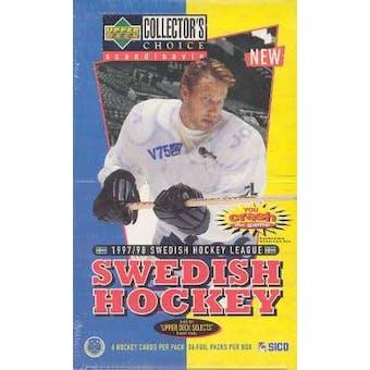 1997/98 Upper Deck Collector's Choice Swedish Hockey Hobby Box