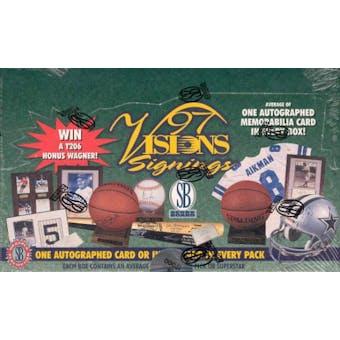 1997 Scoreboard Visions Signings Multi Sport Box