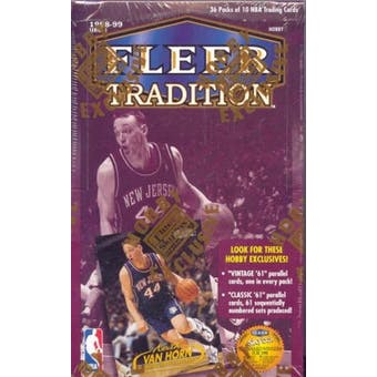 1998/99 Fleer Tradition Basketball Hobby Box