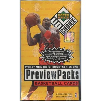 1998/99 Upper Deck Choice Preview Basketball Box