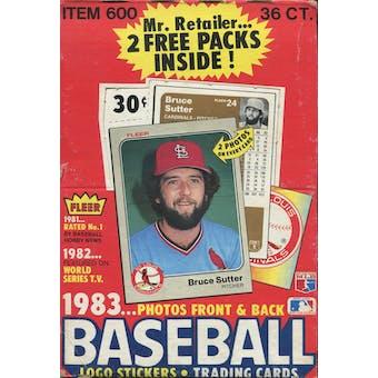 1983 Fleer Baseball Wax Box