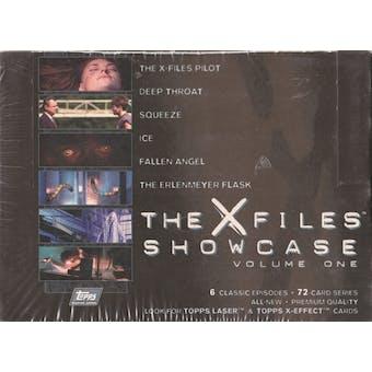 X-Files Showcase Volume One Hobby Box (1997 Topps) (Reed Buy)