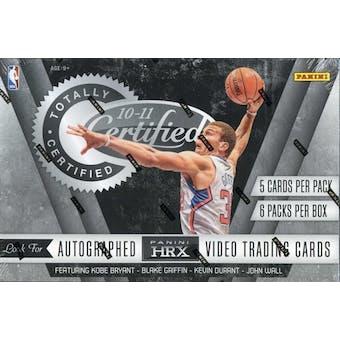 2010/11 Panini Totally Certified Basketball Hobby Box
