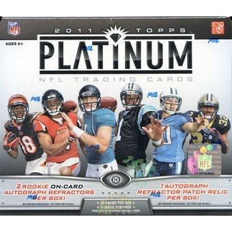 2011 Topps Platinum Football Hobby Box