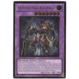 Yu-Gi-Oh Extreme Victory Single Elemental Hero Neos Knight Ultimate Rare - NEAR MINT (NM)