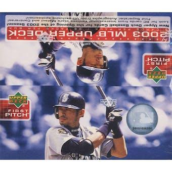 2003 Upper Deck First Pitch Baseball Box
