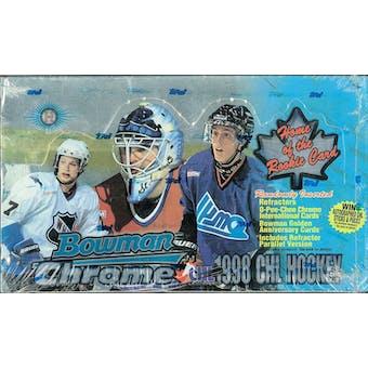 1998/99 Bowman Chrome CHL Prospects Hockey Hobby Box