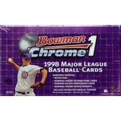 1998 Bowman Chrome Series 1 Baseball Hobby Box (Reed Buy)