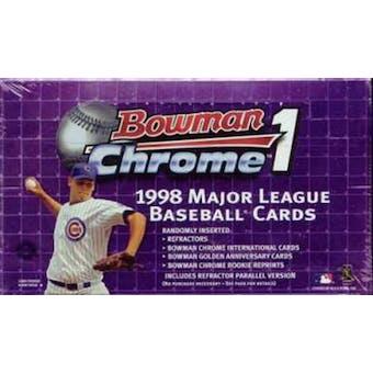 1998 Bowman Chrome Series 1 Baseball Hobby Box