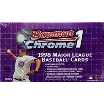 1998 Bowman Chrome Series 1 Baseball Hobby Box (Reed Buy)