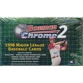 1998 Bowman Chrome Series 2 Baseball Hobby Box (Reed Buy)