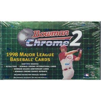 1998 Bowman Chrome Series 2 Baseball Hobby Box