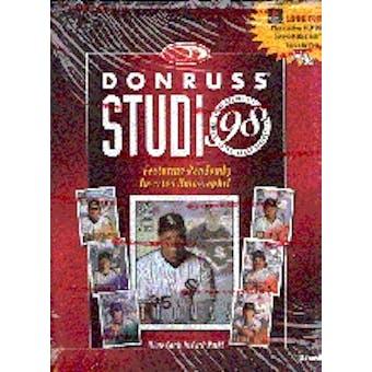1998 Donruss Studio Baseball Hobby Box
