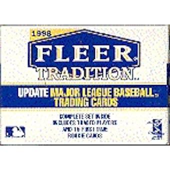 1998 Fleer Tradition Update Baseball Factory Set (box)