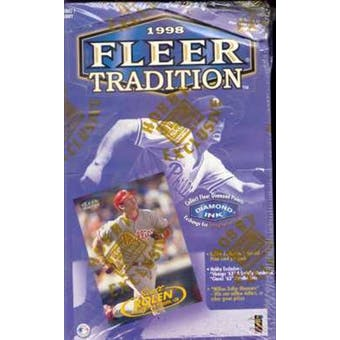 1998 Fleer Tradition Baseball Hobby Box